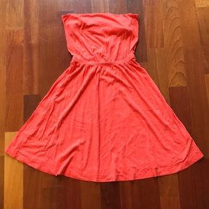 H&M Coral Pink Strapless Dress, Small